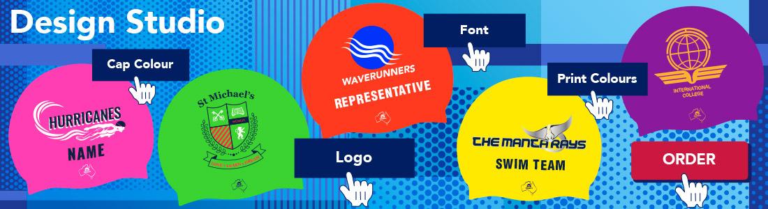 free worldwide postage team elite swim caps custom