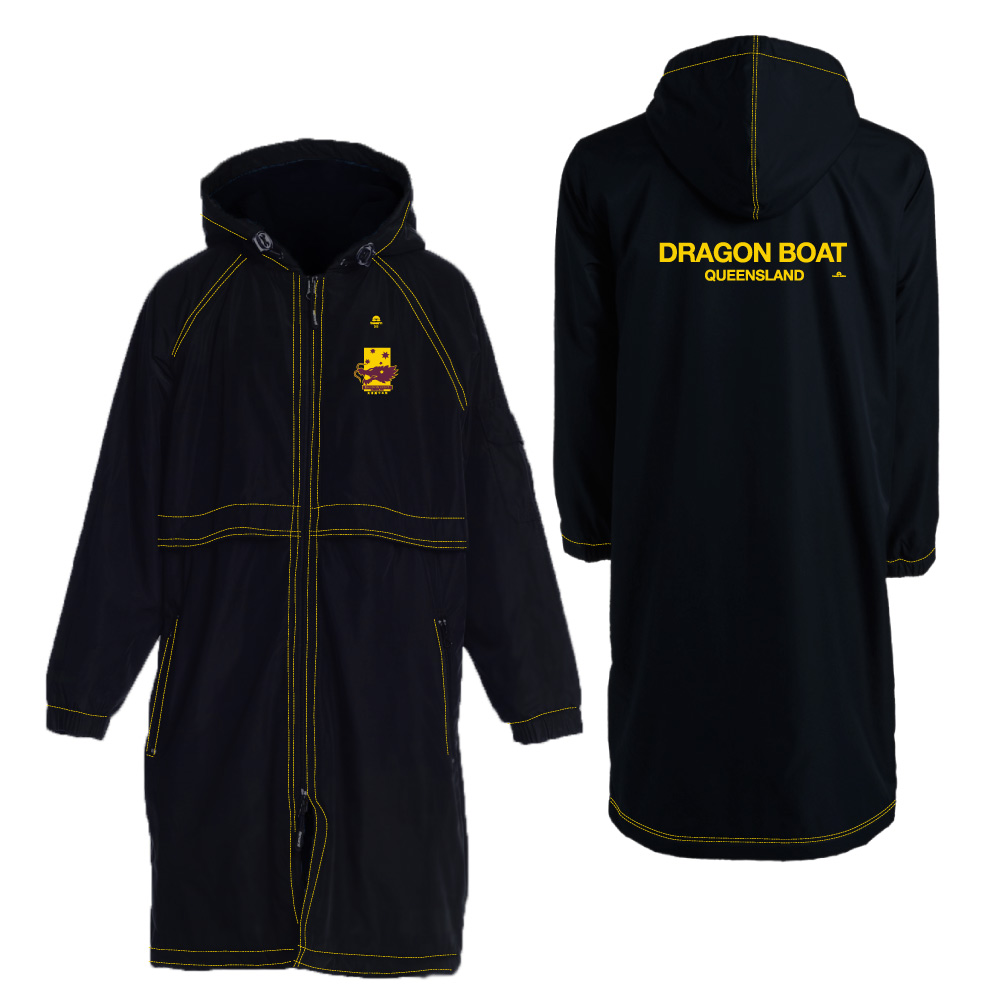 dragon boat deck teamwear parka coat rainproof custom jacket